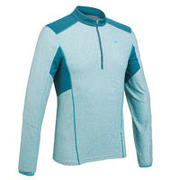 MH550 Men's Long-Sleeved Mountain 1/2-Zip Hiking T-Shirt - Blue