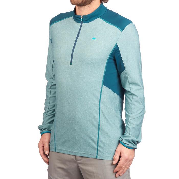 Tee Shirt Randonnée montagne MH550 manches longues 1/2zip homme Bleu