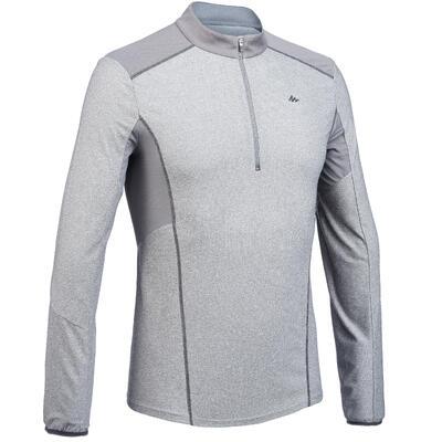 Чоловіча футболка з довгими рукавами MH550 з 1 2 застібкою-блискавкою – Сіра 3108947848bf1