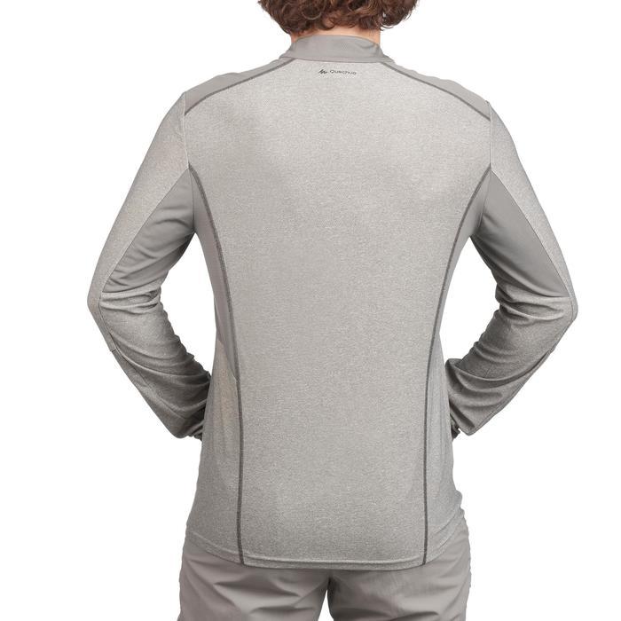 Tee Shirt Randonnée montagne MH550 manches longues 1/2zip homme Gris