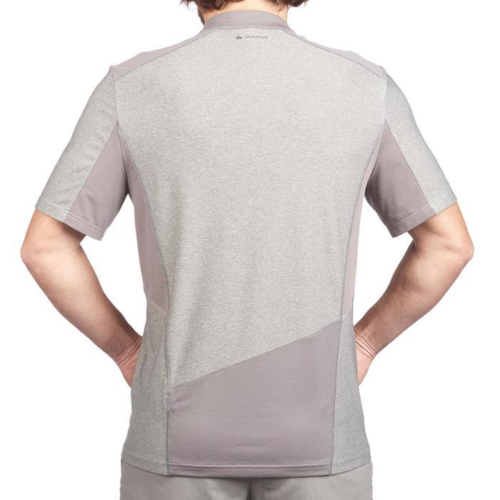 Tee Shirt Randonnée montagne MH520 manches courtes 1/2zip homme Gris