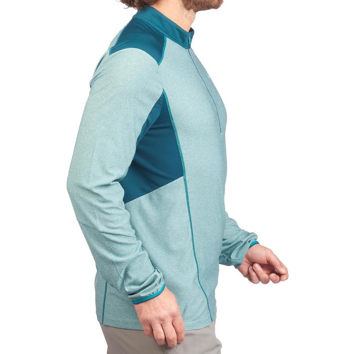 Wandershirt langarm MH550 Brustreißverschluss Herren blau