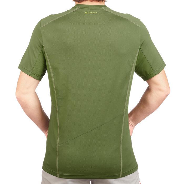 Tee Shirt Randonnée montagne MH500 manches courtes homme Vert foncé