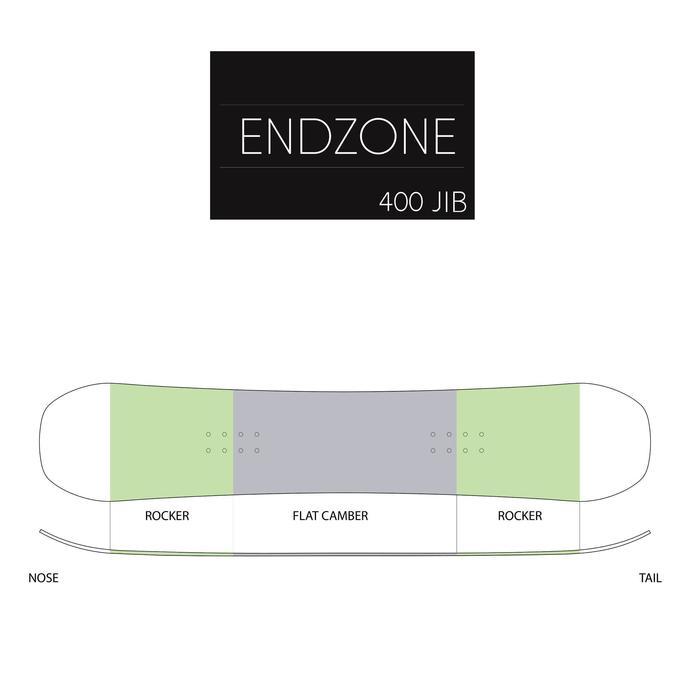 Men's Endzone 500 Jib grey and yellow freestyle snowboard