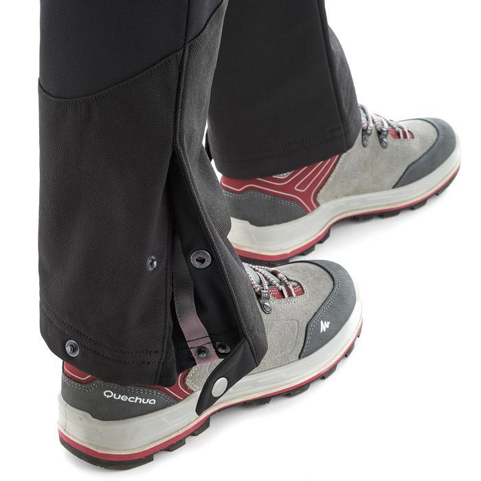 Pantalón cálido de senderismo mujer SH500 x-warm stretch negro