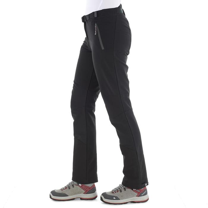 SH500 Women's x-warm stretch black snow hiking trousers - 1278072