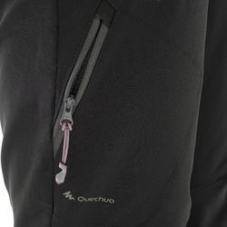 Pantalon de randonnée neige femme SH500 x-warm extensible noir