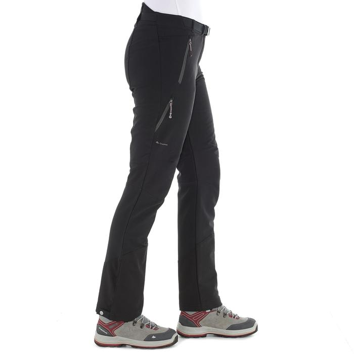 SH500 Women's x-warm stretch black snow hiking trousers - 1278074