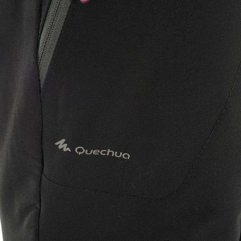 Pantalón de hiking nieve mujer SH500 x-warm stretch negro