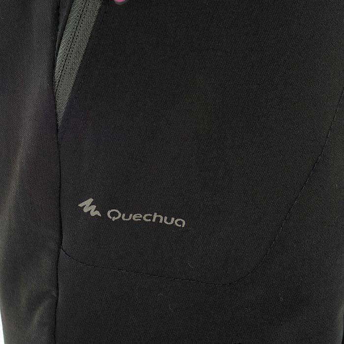 Softshellhose Winterwandern SH500 Extra-Warm Damen schwarz
