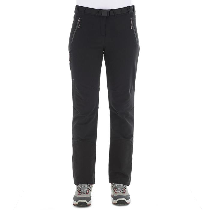 SH500 Women's x-warm stretch black snow hiking trousers - 1278079