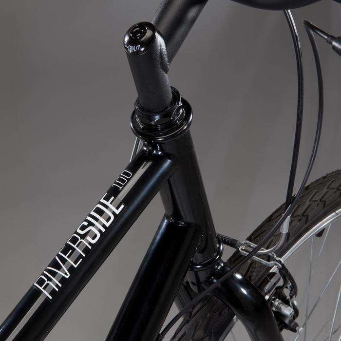 Hybride fiets Riverside 100 zwart