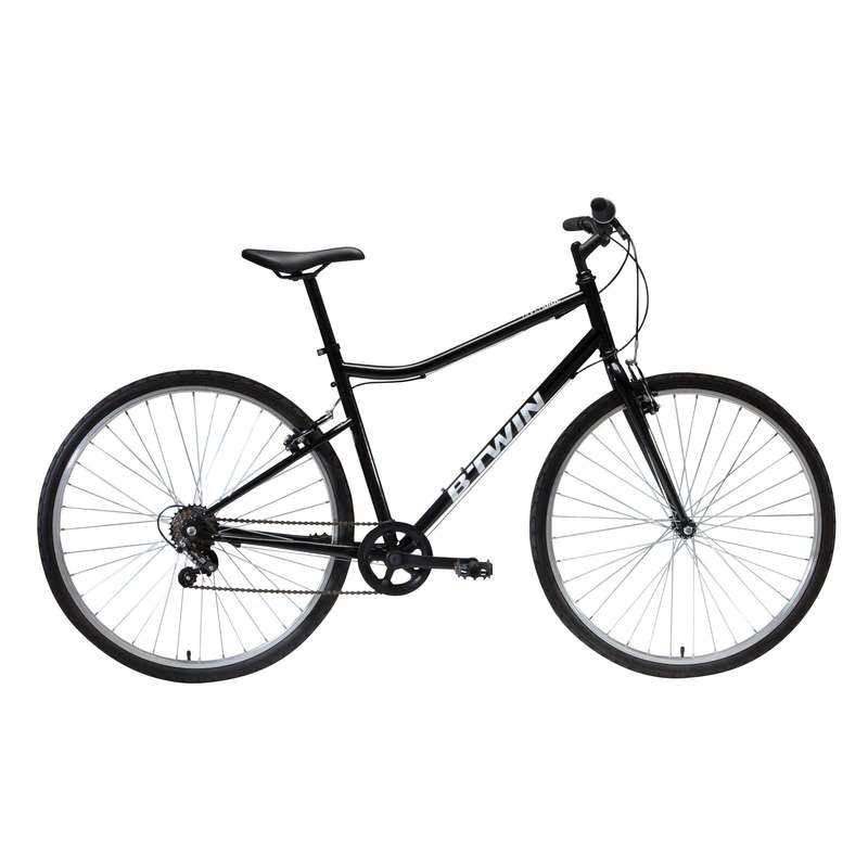 Cross Bike 28 Zoll Riverside 100 Schwarz Riverside Decathlon