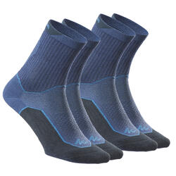Wandersocken NH500 High Naturwandern 2 Paar marineblau