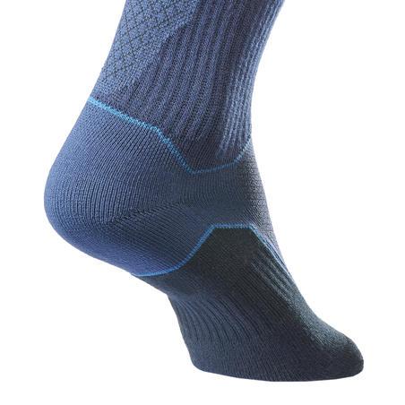 Country walking socks - NH500 High - X2 pairs - Navy