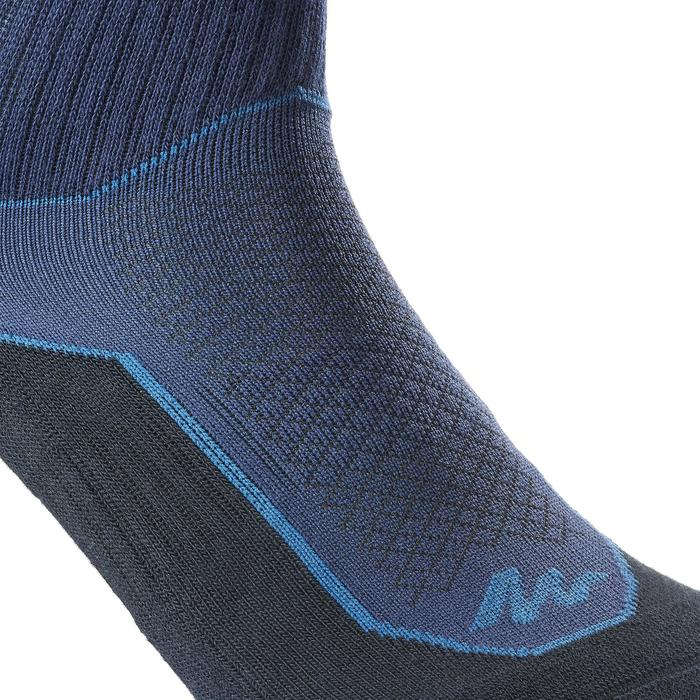 Sokken voor wandelen in de natuur NH500 high marineblauw 2 paar