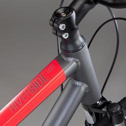 Hybridefiets Riverside 500 grijs/rood