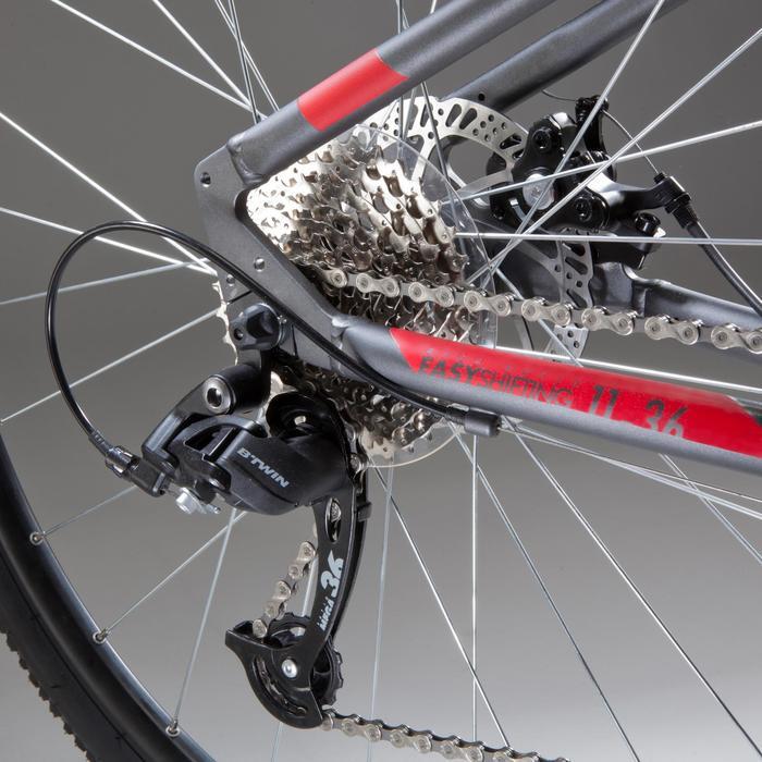 Hybride fiets Riverside 500 grijs/rood