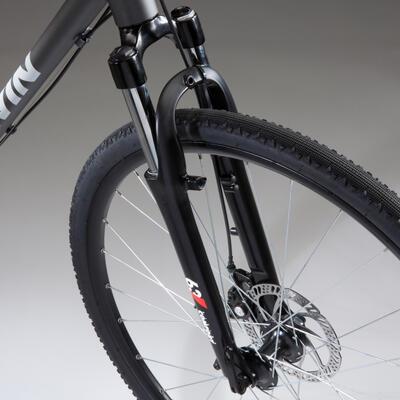 Hybrid Bike Riverside 500 - Grey/Red