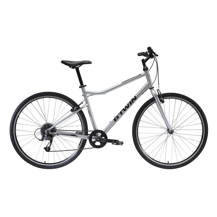 "Cross Bike 28"" Riverside 120 Stahl grau"