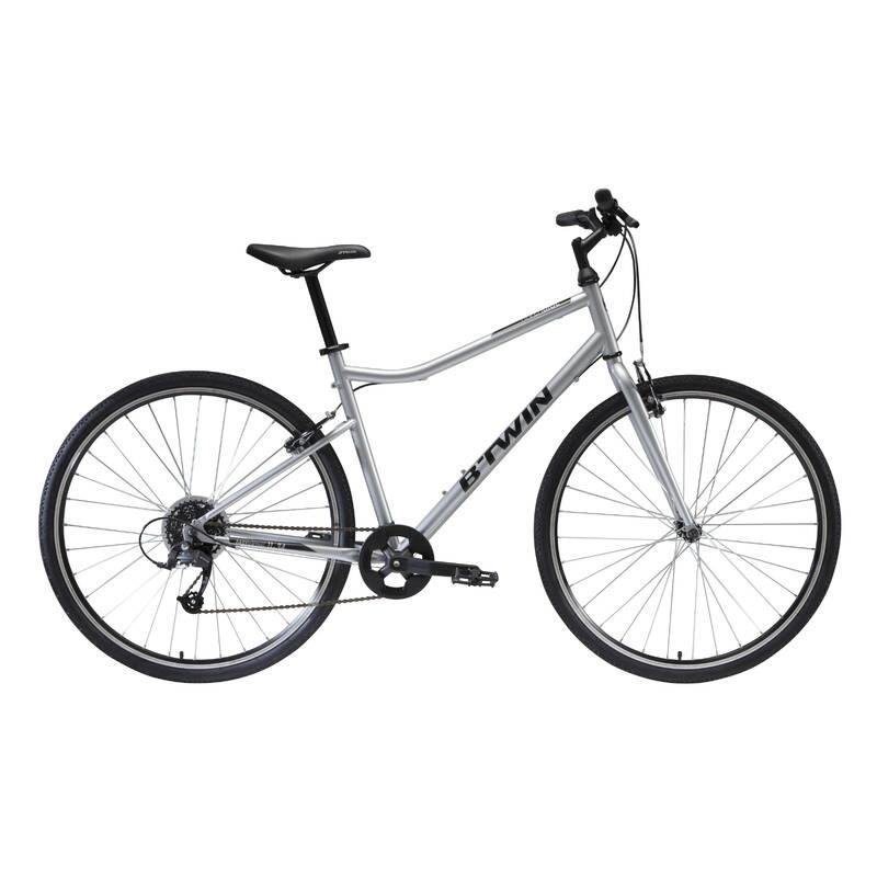 TREKOVÁ KOLA NA TURISTIKU Cyklistika - TREKOVÉ KOLO 120 ŠEDÉ  RIVERSIDE - Jízdní kola