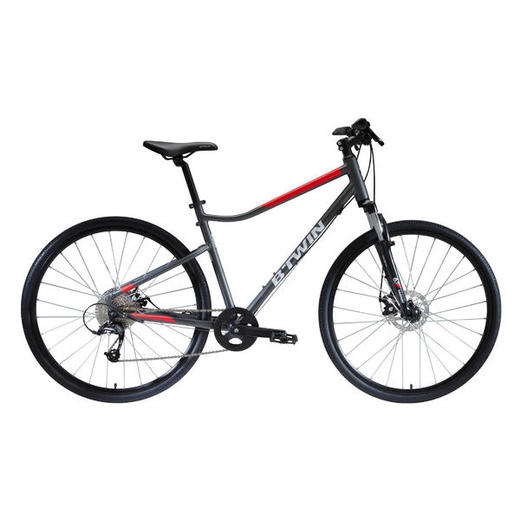Cross Bike 28 Zoll Riverside 500 grau/rot