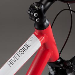 Hybridefiets Riverside 500 rood