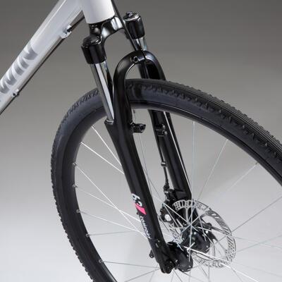 Riverside 500 Hybrid Bike - White