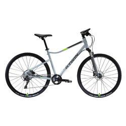 "Cross Bike 28"" Riverside 900 hellgrau/neongelb"