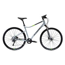 "Cross Bike 28"" Riverside 900 hellgrau/neongelb"