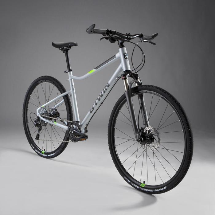 Cross Bike 28 Zoll Riverside 900 grau/neongelb