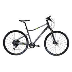 "Cross Bike 28"" Riverside 920 Anthrazitgrau/Neongelb"