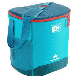 野營健行用冰箱簡潔設計30公升 藍色
