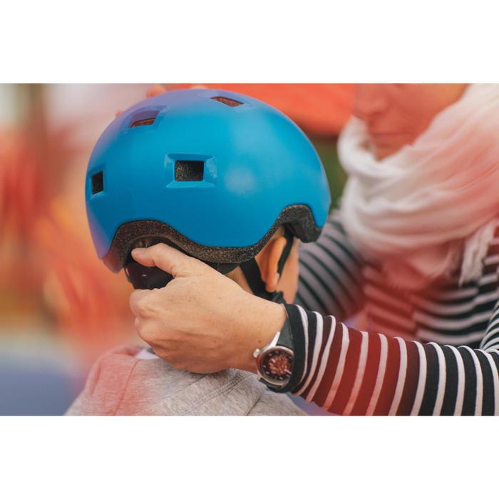 Casco Patinaje Patiente Skateboard Oxelo B100 Niños Azul