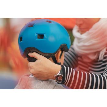 Casco para roller skateboard patinete B100 azul