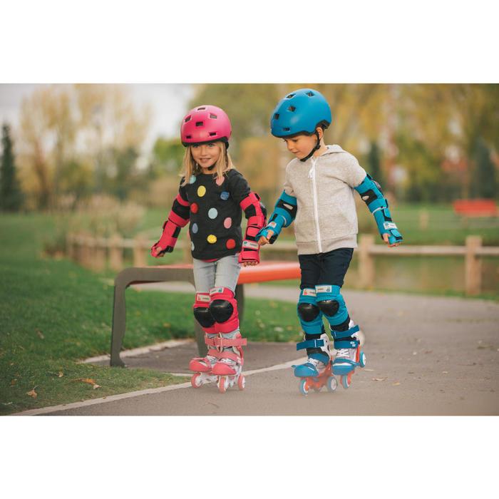 Helm voor skeeleren, skateboarden, steppen B100 blauw