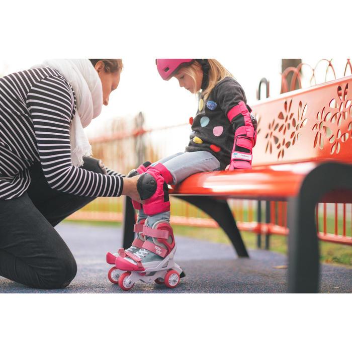 Set 3 beschermers voor kinderen voor skeeleren, skateboard, step Basic roze