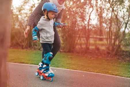 Kids' 2 x 3-Piece Skating Skateboard Scooter Protective Gear Basic - Blue