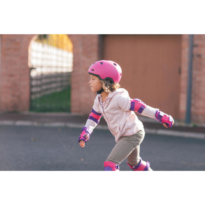 Casque roller skateboard trottinette B100 rose