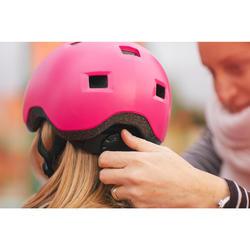 Casco para roller skateboard patinete B100 rosa
