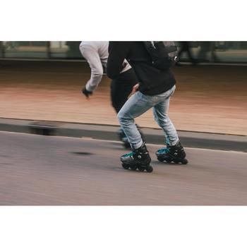 Roller freeride adulte  MF500 HardBoot noir bleu - 1278740