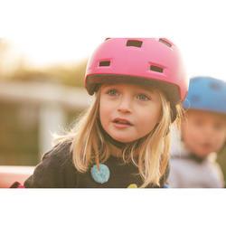 Skaterhelm B100 für Inliner Skateboard Scooter rosa