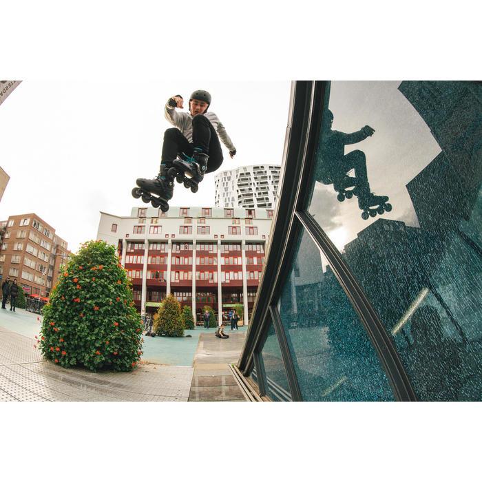 成人滑輪Freeride硬鞋 MF500 - 黑色/藍色