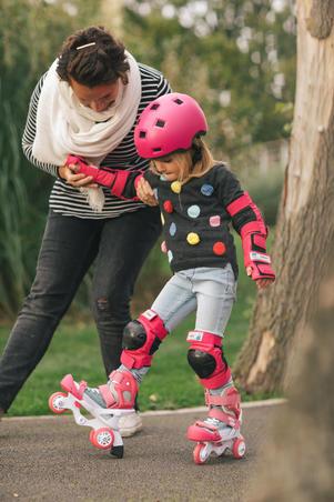 Alat Pelindung 3 Bagian untuk Skate/Skateboard/Skuter Anak Basic - Pink
