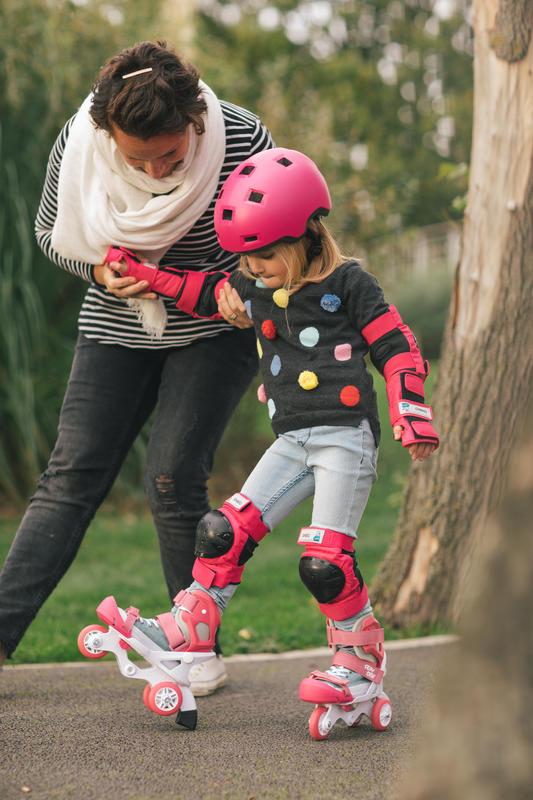Set 3 đồ bảo hộ dành cho trượt patin/ trượt ván cơ bản trẻ em - Hồng