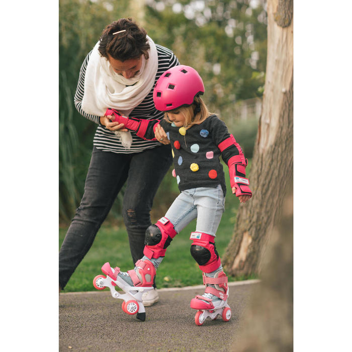 Set 3 protections roller skate trottinette enfant BASIC - 1278744