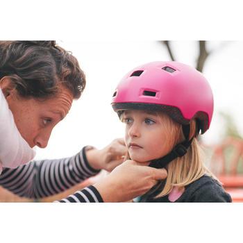 Helm voor skeeleren, skateboarden, steppen B100 roze