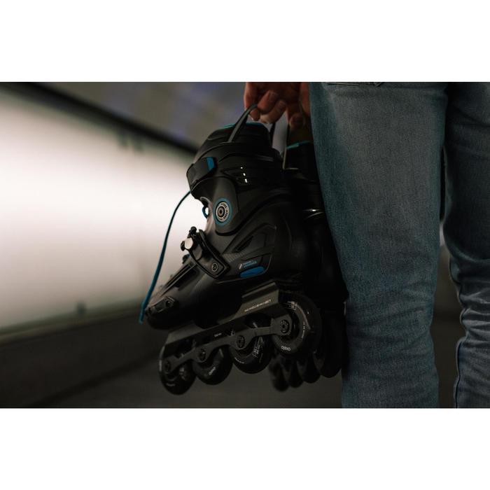Inline-Skates Freeride MF500 Hardboot Erwachsene schwarz/blau