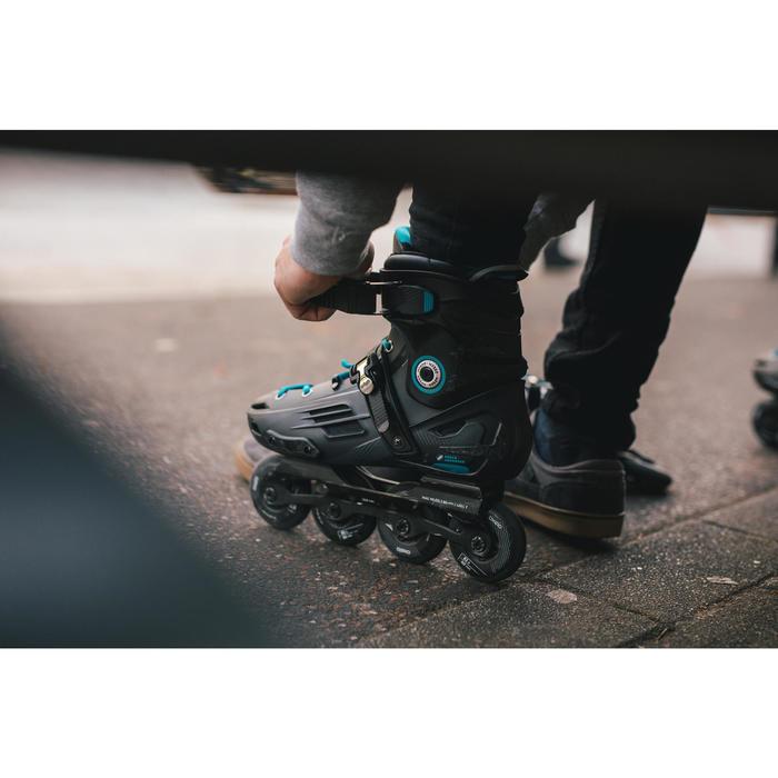 Roller freeride adulte  MF500 HardBoot noir bleu - 1278756