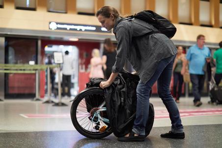 Housse de protection et de transport pour vélo pliant